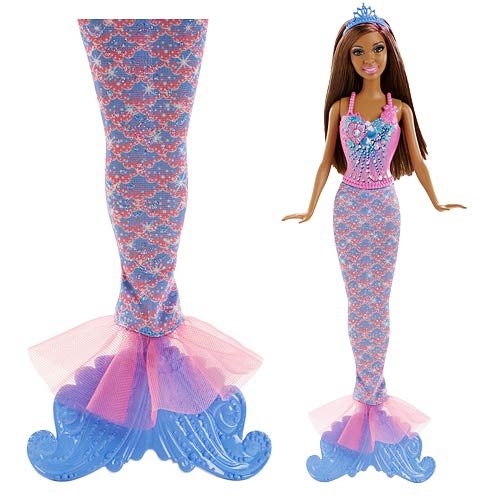 Barbie Fairytale Magic Mermaid African American Doll