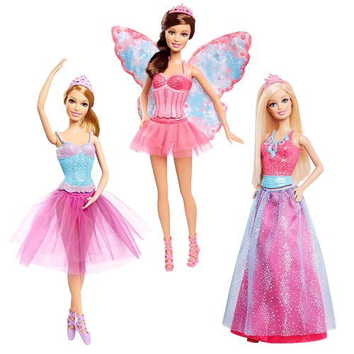 Barbie Fairytale Magic Doll Giftset 3-Pack