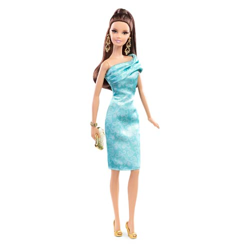 Barbie The Look Green Dress Caucasian Doll