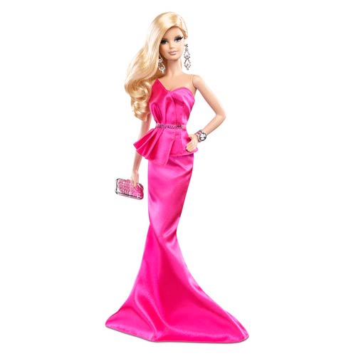 Barbie The Look Hot Pink Dress Caucasian Doll