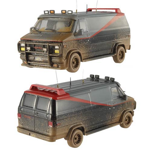 A-Team Van with Mud Hot Wheels Elite 1:43 Scale Vehicle