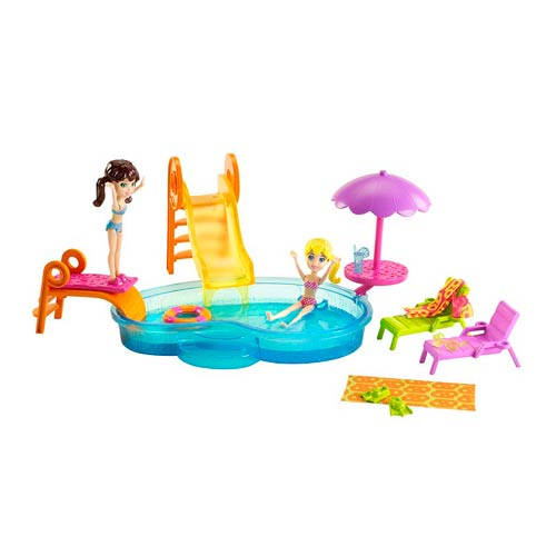 Polly Pocket Pool Party Playset