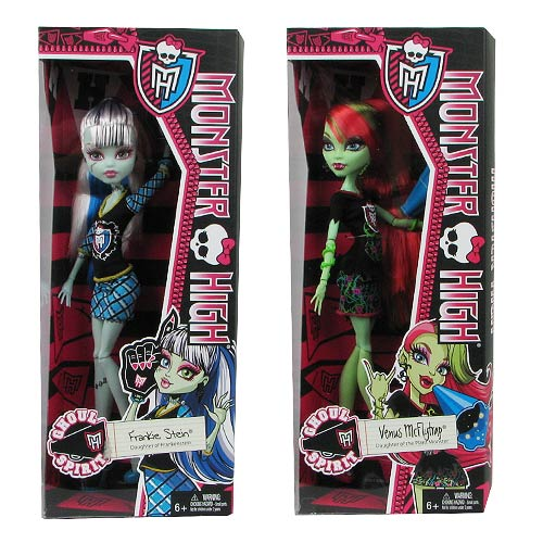 Monster High Ghoul Spirit Dolls Wave 1 Revision 1 Set
