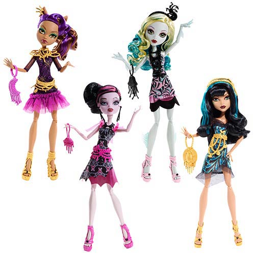 Monster High Frights, Camera, Action Black Carpet Dolls Case