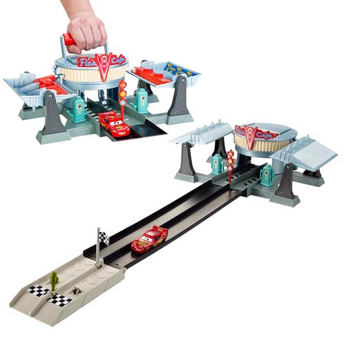 Cars Action Shifters Flo's V8 Cafe Dragstrip Playset