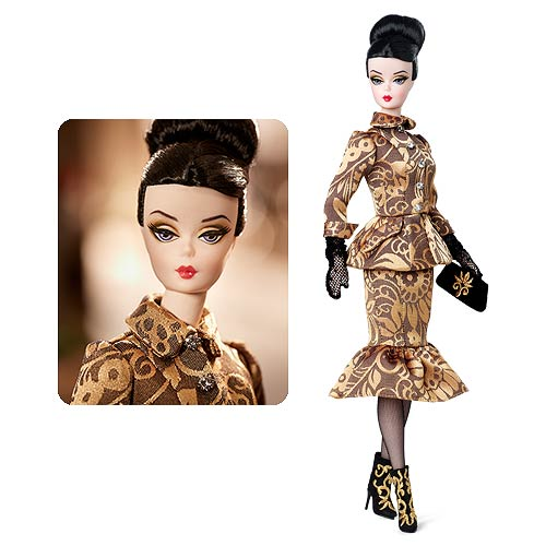 Barbie Fashion Model Collection 4 Gold Brocade Barbie Doll