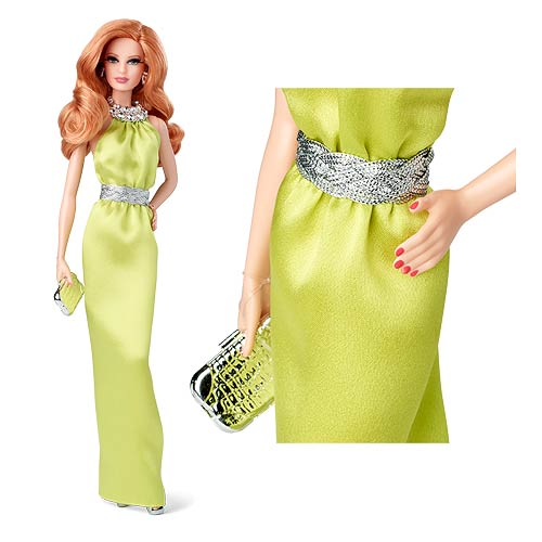 The Barbie Look Green Dress Barbie Doll