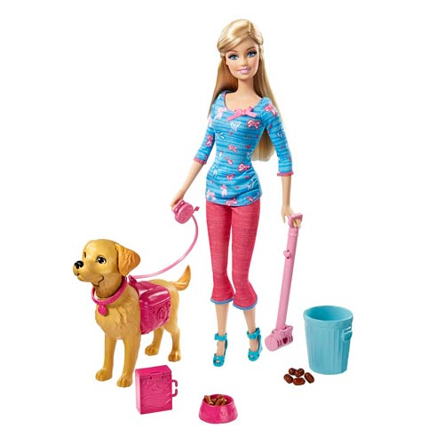 Barbie Potty Training Puppy Caucasian Doll