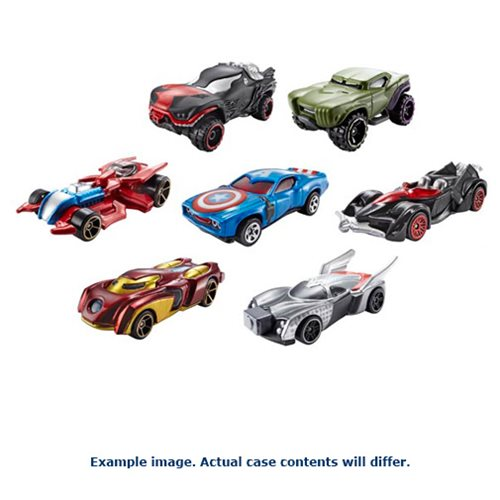 Hot Wheels Marvel Character Cars 1:64 Scale 2017 Wave 4 Case