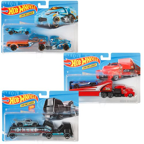 Hot Wheels Super Hauling Rig and Car 2019 Mix 4 Case