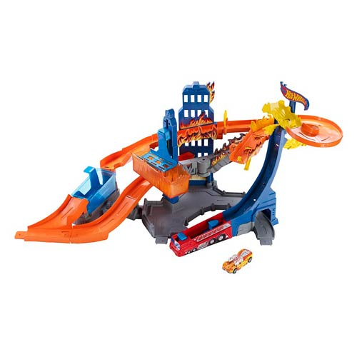 Hot Wheels Color Shifters Skyscraper Inferno Playset