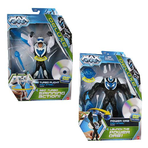 Max Steel Deluxe Action Figure with DVD Case