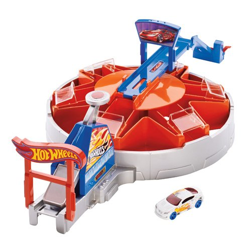 Hot Wheels Launching Car Garage Blitz Playset