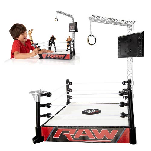 WWE Super Strikers Turnbuckle Takedown Ring Playset