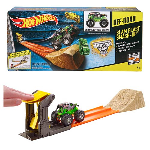 Hot Wheels Monster Jam Slam Blast Smashup Playsets