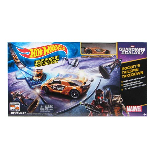 Hot Wheels Guardians Galaxy Rocket Raccoon Tailspin Playset