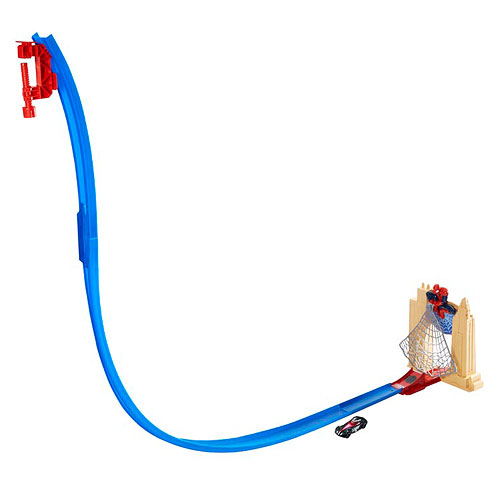 Spider-Man Hot Wheels Web Swing Drop-Out Track Set Playset