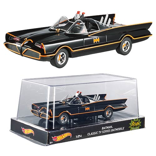 Batman 1966 TV Series Batmobile 1:24 Hot Wheels Heritage