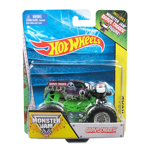 Hot Wheels Monster Jam Grave Digger Truck 1:64 Scale Vehicle