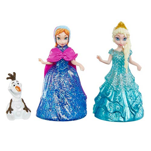 Disney Frozen Glitter Glider Doll 3-Pack