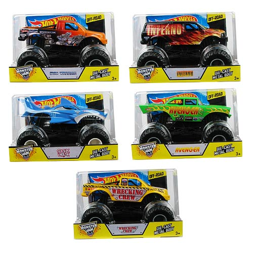Hot Wheels Monster Jam 1:24 Scale 2014 Wave 1 Rev. 2 Case