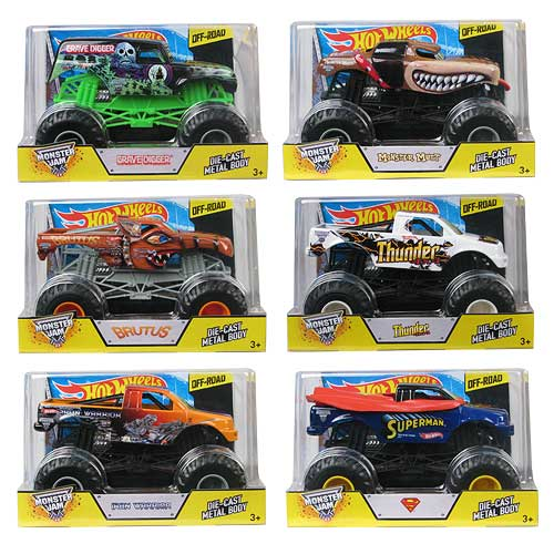Hot Wheels Monster Jam 1:24 Scale 2014 Wave 5 Case