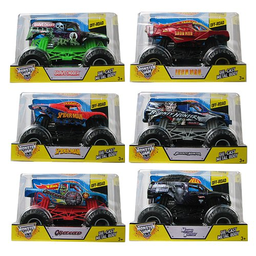Hot Wheels Monster Jam 1:24 Scale 2014 Wave 6 Case