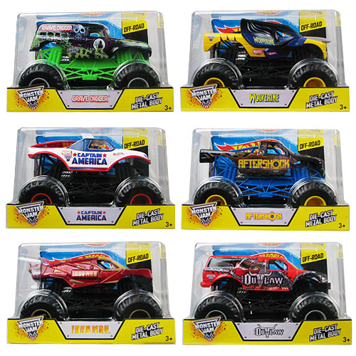 Hot Wheels Monster Jam 1:24 Scale 2014 Wave 7 Case