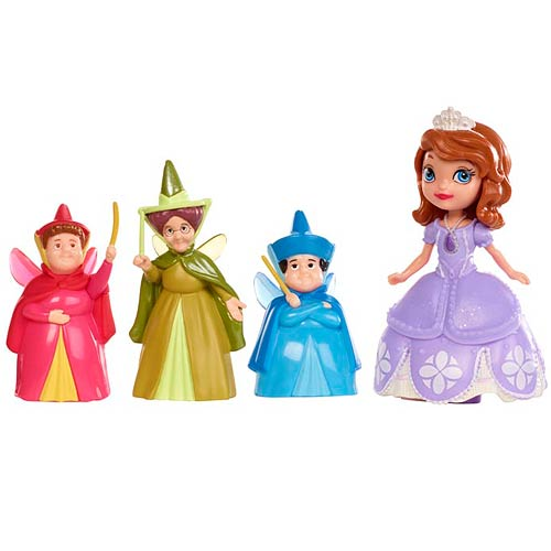 Sofia the First Sofia and Fairy Godmothers 3-Inch Doll Set