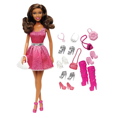 Barbie African American Doll and Shoes Accessories Pack