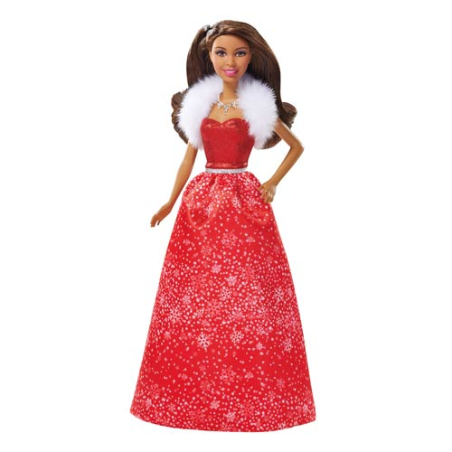 Barbie 2014 African American Holiday Doll