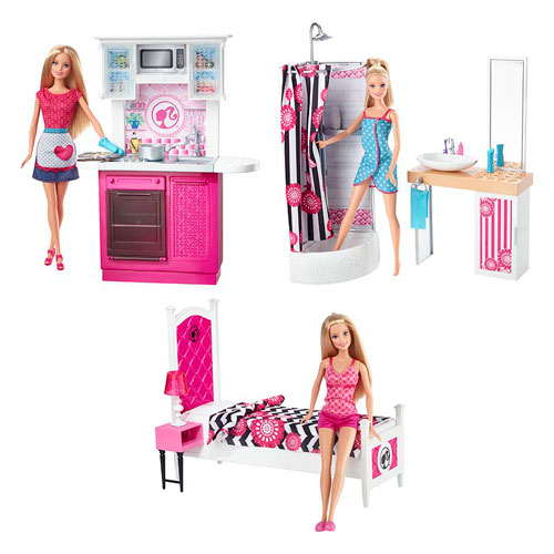 Barbie Home Design Doll Playset Case Mattel Barbie Playsets At Entertainment Earth