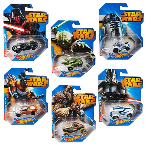 star wars hot wheels 1 64 character car case wave 1 rev 1 mattel star wars vehicles die. Black Bedroom Furniture Sets. Home Design Ideas