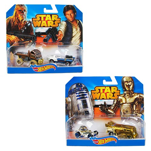 Star Wars Hot Wheels 1:64 Character Car 2-Pack Case