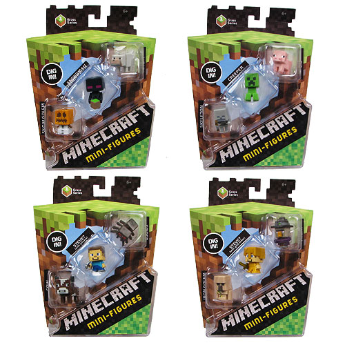 Minecraft Collectible Figures 3-Pack Case