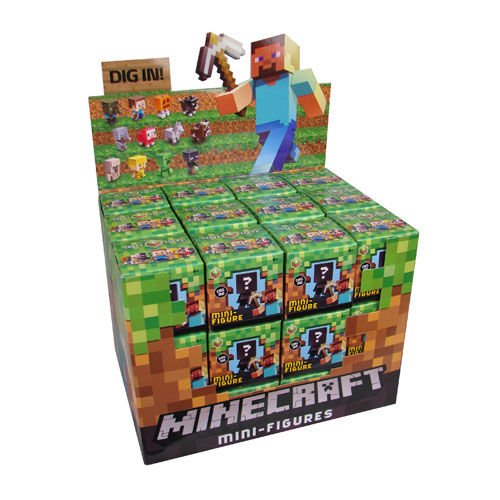 Minecraft Collectible Figures Wave 1 Singles Case
