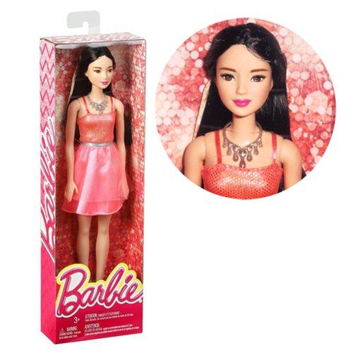 Barbie Glitz Coral Dress Doll