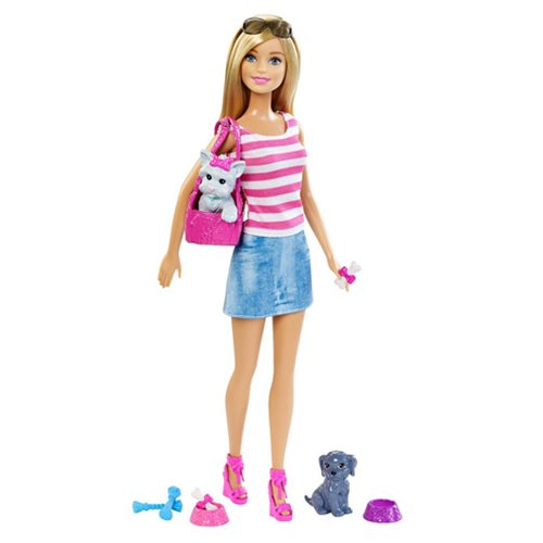 Barbie Doll and Pets Giftset