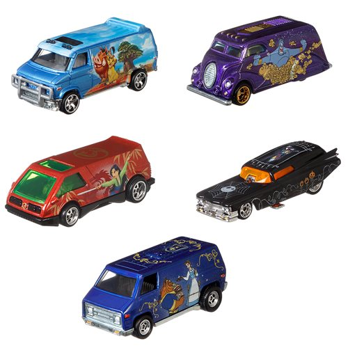 Hot Wheels Pop Culture Disney Classic 2020 Mix 2 Vehicles Case