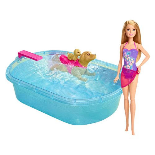 Barbie Swimmin 39 Pup Pool And Doll Mattel Barbie Dolls At Entertainment Earth