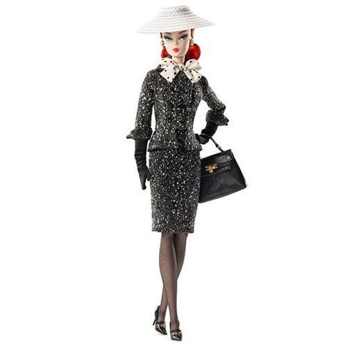 Barbie Black and White Tweed Suit Doll, Not Mint