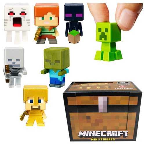 Minecraft Toys And Mini Figures For Kids : Minecraft chest series mini figures wave random pack