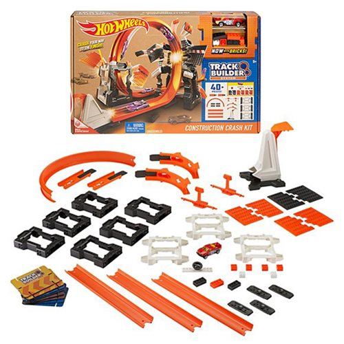 Hot Wheels Track Builder Construction Crash Playset
