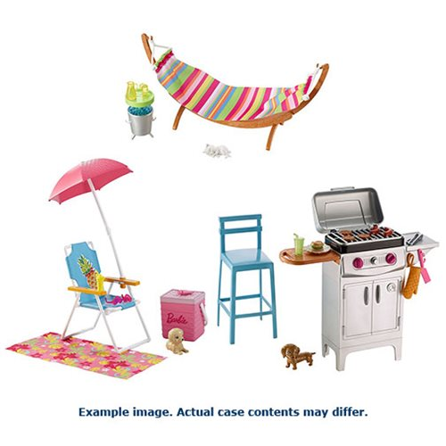 Barbie Outdoor Furniture Playset Case