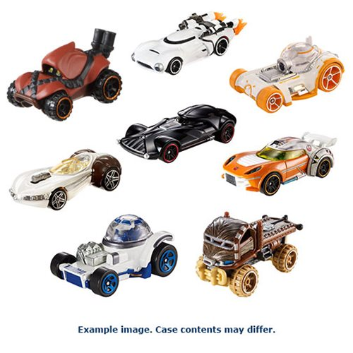 Star Wars Rogue One Hot Wheels Char. Car 2017 Mix 5 Case