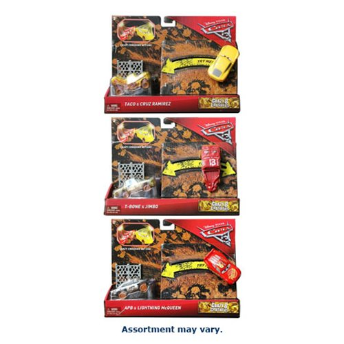 Cars 3 Bumper Basher 1:55 Scale Vehicle 2-Pack Case