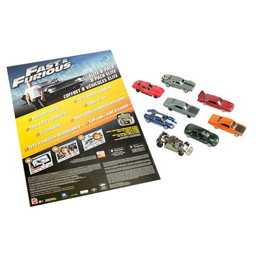 Fast and Furious Elite 1:55 Scale Die-Cast Vehicle 8-Pack