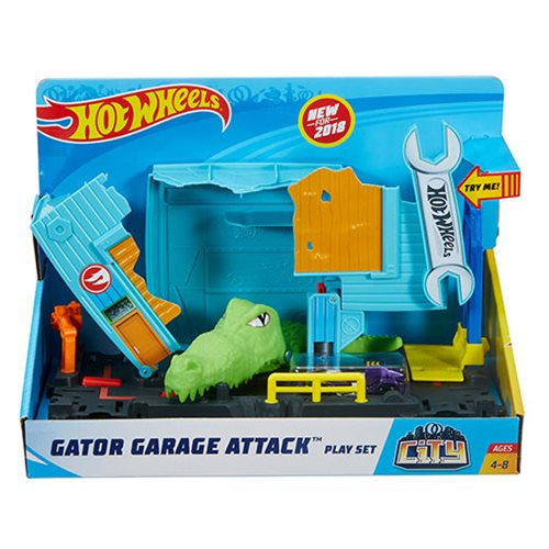 Hot Wheels City Gator Garage Attack Playset