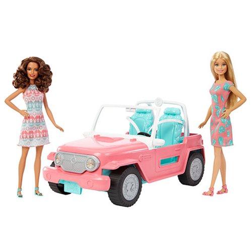 Barbie Dolls and Jeep Vehicle Set