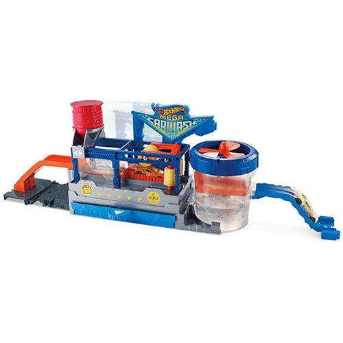 Hot Wheels City Mega Car Wash Playset